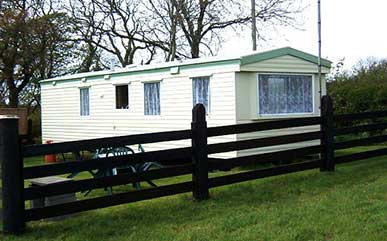 holiday caravan in Pembrokeshire